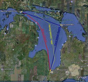 Port Huron to Mackinac courses