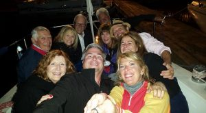 ECSC members enjoying a night sail after the Final Bash
