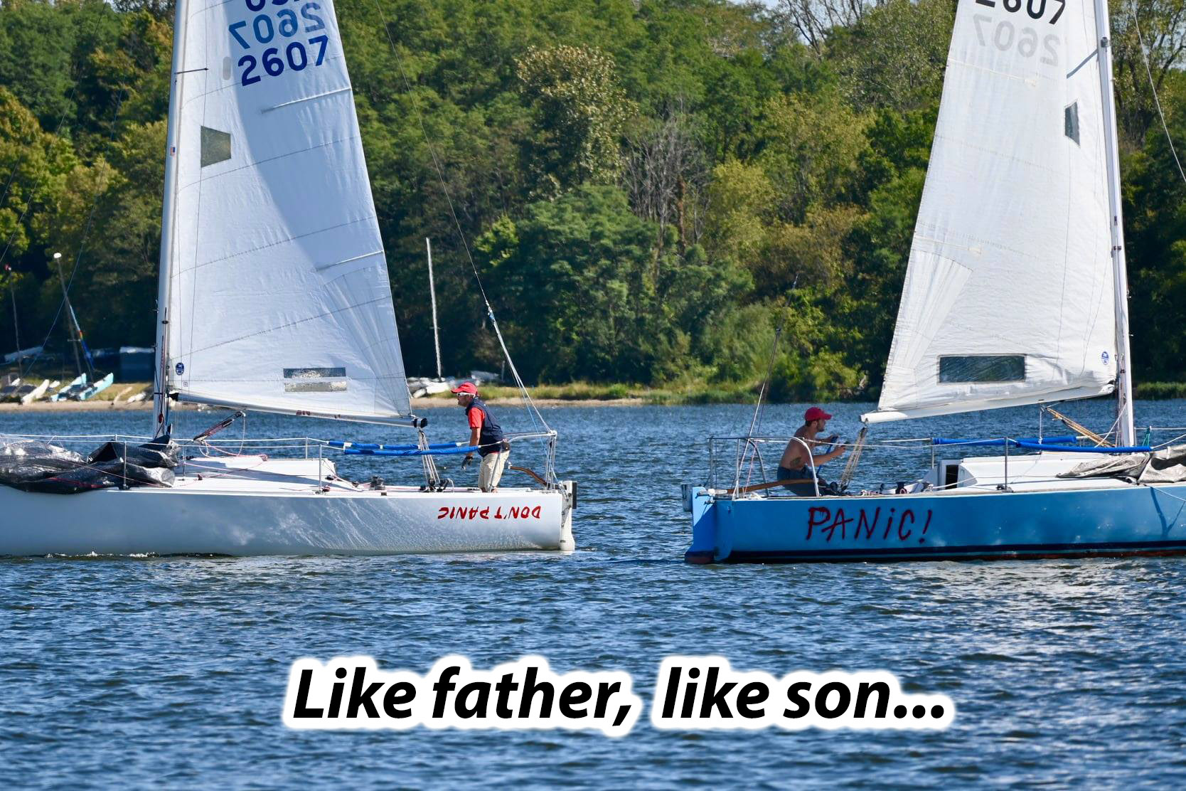 father son racing