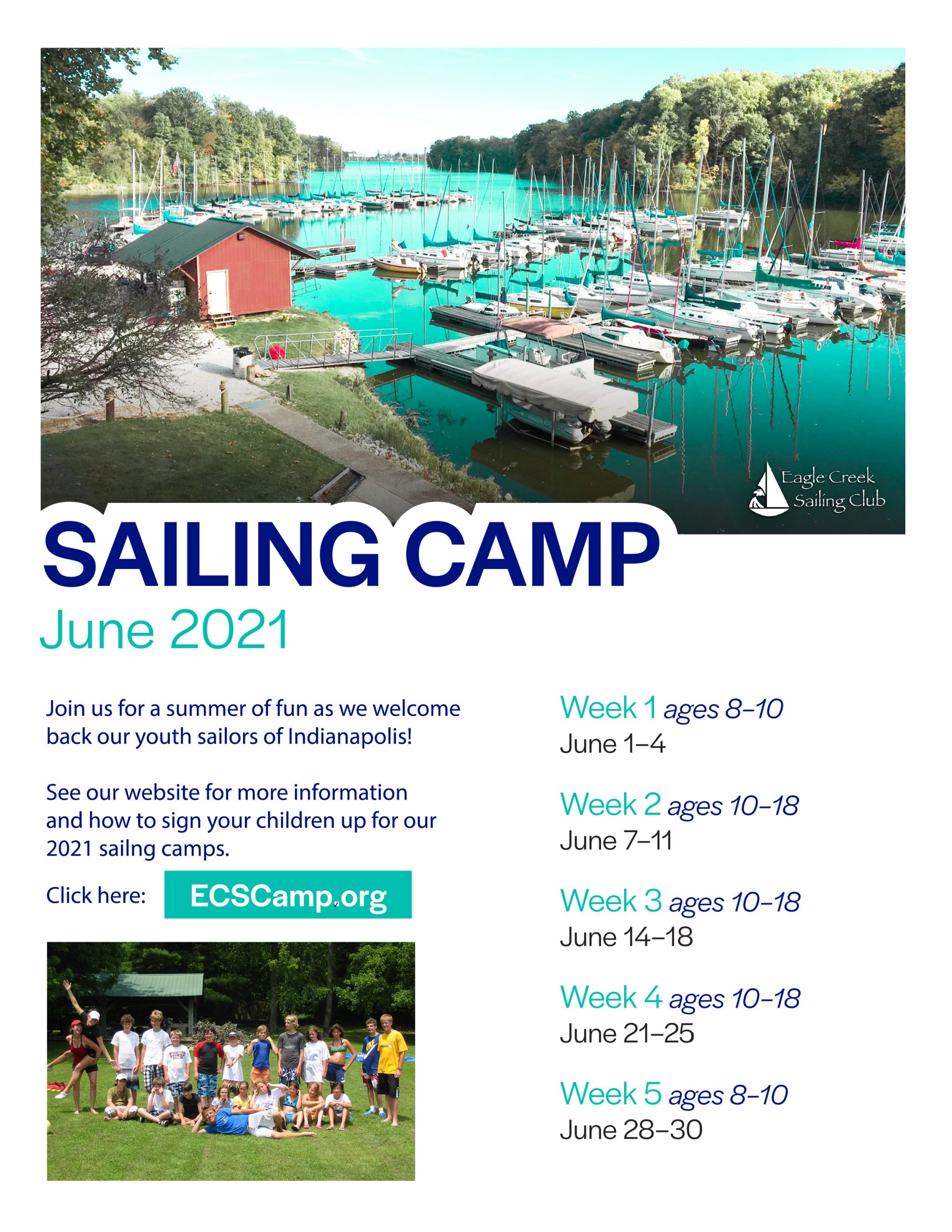 ecsc 2021 junior sailing camp