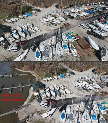 Eagle Creek Sailing Club Drone View