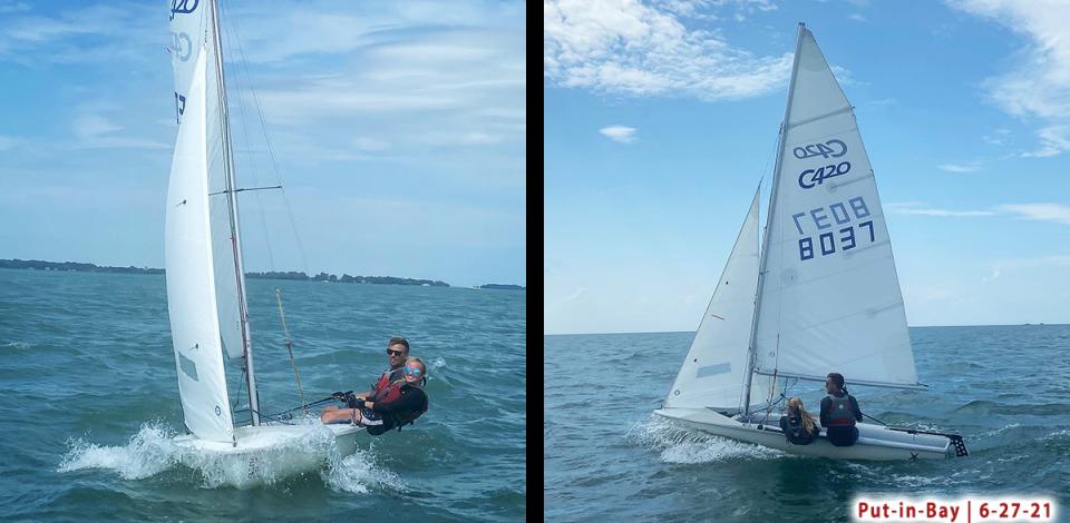EJ & Rach 420 sailing PIB